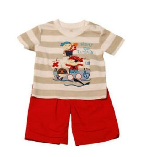 6-12 Mo 3-6m, Baby boys 2 piece set-T-shirt et pantalon 0-3m