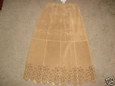 NWT Coldwater Creek suede cutout skirt sz.8BEAUTIFUL