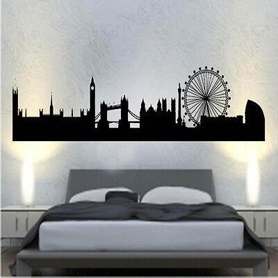 Ciudad de Londres de vinilo de etiquetas de pared arte mundo país Silueta