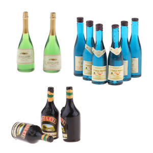 MagiDeal-12-Pieces-Dollhouse-Miniature-Wine-Bottles-Drink-Bottles-1-12-Scale