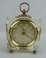 VINTAGE Sheffield Lucite Wind Up Alarm Clock Mid Century Modern W. Germany