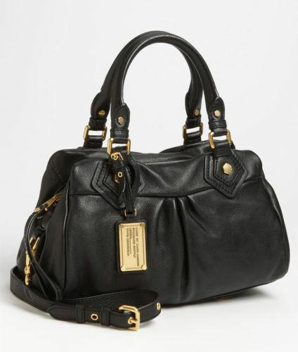 Marc by Marc Jacobs Auth Black Core Classic Q Baby Groovee Handbag Purse S31