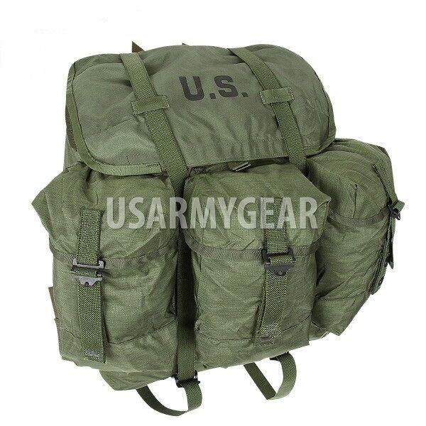 fatto in USA Army Military OD verde ALICE Medium LC2 Field Pack borsa nuovo USED
