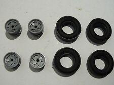 4 Felgen + 4 Reifen Carrera Exclusiv 124 für Bastler