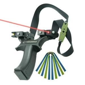Profi Steinschleuder Zwille Laser Jagd Schleuder Katapult Sportschleuder Outdoor