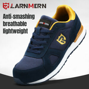 la mejor actitud a4078 b296a Details about LARNMERN Work Shoes Steel Toe for Men Safety Working Shoes  Breathable Reflective