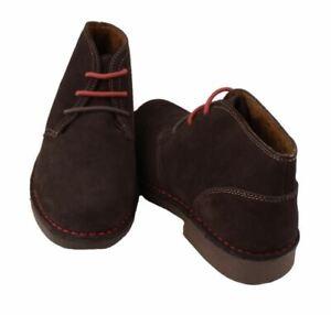 Johnston-amp-Murphy-Prairie-Desert-Men-039-s-Chocolate-Brown-Suede-Chukka-Boots
