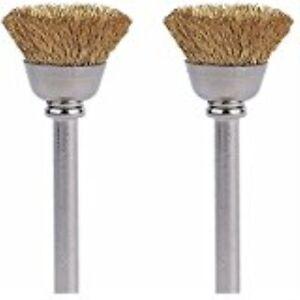 "Dremel 442-02 Carbon Steel Brushes 1//2/"" 2 Pack"