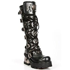 reputable site d3ab6 e8045 Details about NEW Rock Boots Ladies Punk Gothic Boots-Style 1030 s1 Black-  show original title