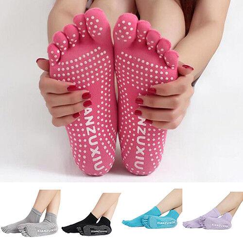 Men Women Sport Yoga 5 Toes Socks Exercise Massage Cotton Pilates Anti-slip Sock