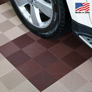 Garage Tiles | Drain Tiles Brown - Made In the USA
