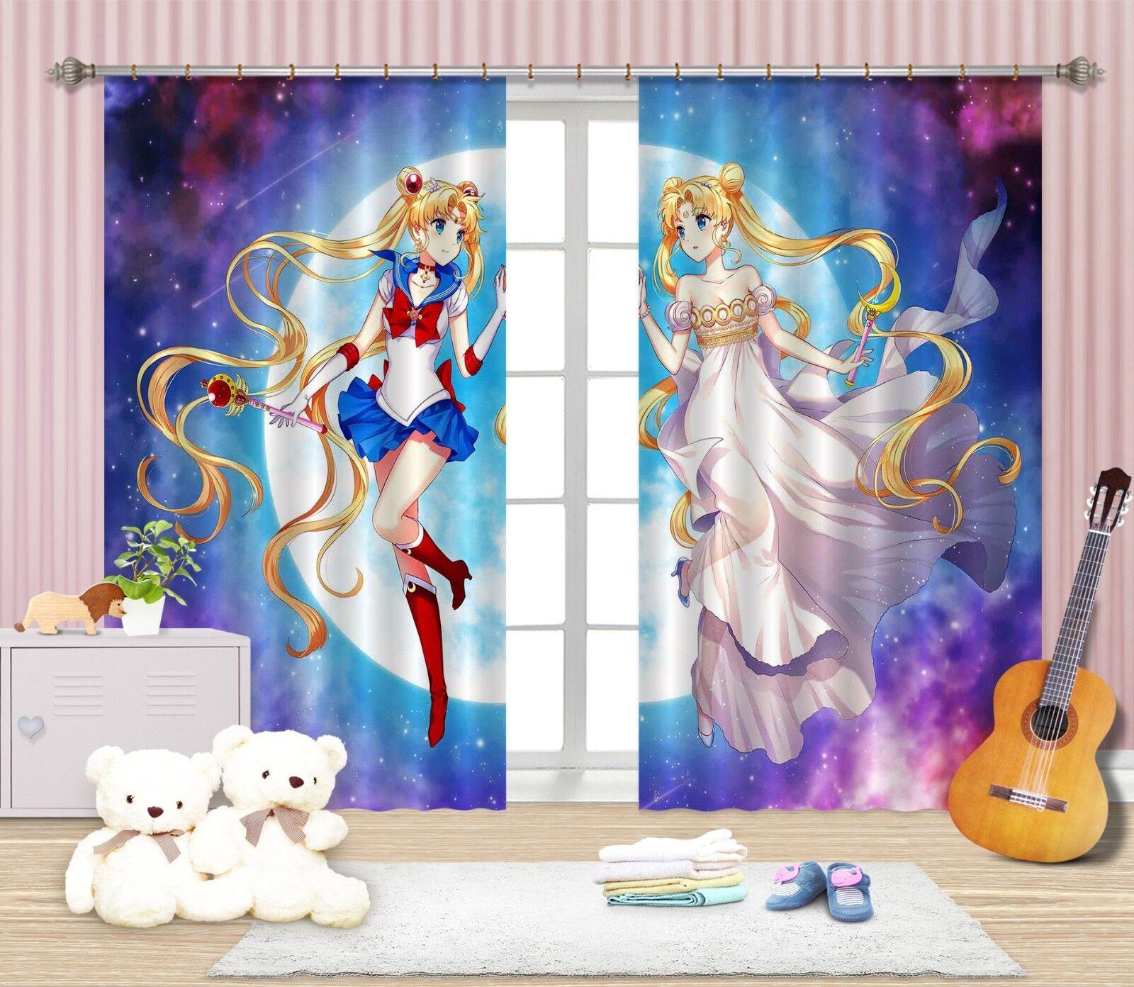 3D Japón Anime 1015 Cortinas de impresión de Cortina Blockout Foto nos Cortinas Limón