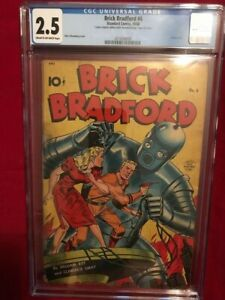 Brick-Bradford-6-CGC-2-5-Standard-1948-Classic-Schomburg-Robot-Cover