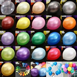 11-034-METALLIC-Pearlised-High-Quality-LATEX-BALLOONS-Decoration-Birthday-Party