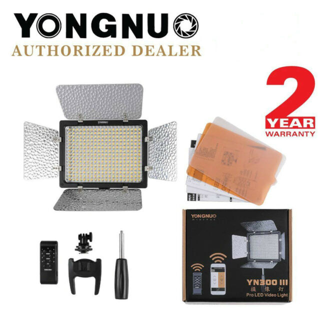 YONGNUO YN300 III Pro LED Video Studio Light 3200K-5500K for Canon Nikon