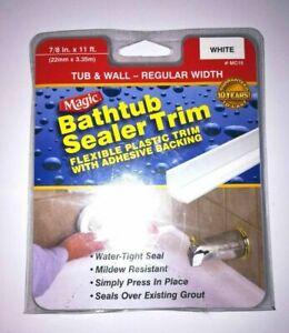 Magic Bathtub Tub And Wall Sealer Trim Caulk Strip White