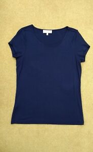 Laura-Ashley-Navy-Top-Size-10-12-Worn-once
