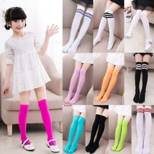 Kids-Girls-Long-Tube-Socks-Child-Thigh-High-Stockings-Student-Over-Knee-Hosiery