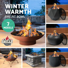 Grillz Fire Pit Charcoal Outdoor Heater BBQ Table Metal Fireplace Bowl 14 Model