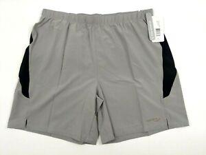 Saucony-Mens-Grey-Run-Lux-Shorts-W-Drawstring-Size-XL-10387-TNMBK