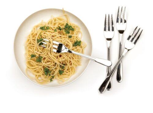 RSVP ENDURANCE STAINLESS STEEL 18//8 PASTA FORKS Rippled 4 Spaghetti SET OF 4