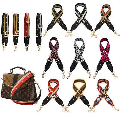 Adjustable DIY Replacement Leather Bag Shoulder Strap Handle Cross 6 Colour Gift