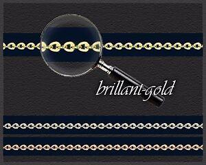Weißgold/gelbgold/rotgold Echtschmuck Edelmetall Ohne Steine Bescheiden Halskette Collier 585 Gold Goldkette Flinserl-kette