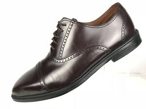 Details About Rockport Adiprene Cap Toe Brogue Lace Up Dress Leather Oxford Burgundy Mens 11m