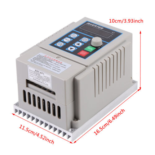 0.75KW 220V 5A VARIABLE FREQUENCY DRIVE INVERTER 3HP VFD US STOCK