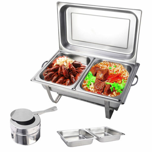 Speisenwärmer Chafing Dish Warmhaltegerät Warmhaltebehälter Edelstahl 1-2 Stk