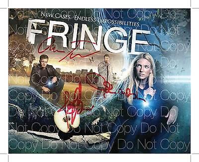 Fringe show signed x3 cast 8X10 photo picture poster autograph RP