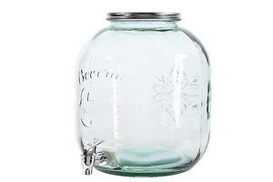 glas glasflasche mit zapfhahn saftglas schnapsglas. Black Bedroom Furniture Sets. Home Design Ideas