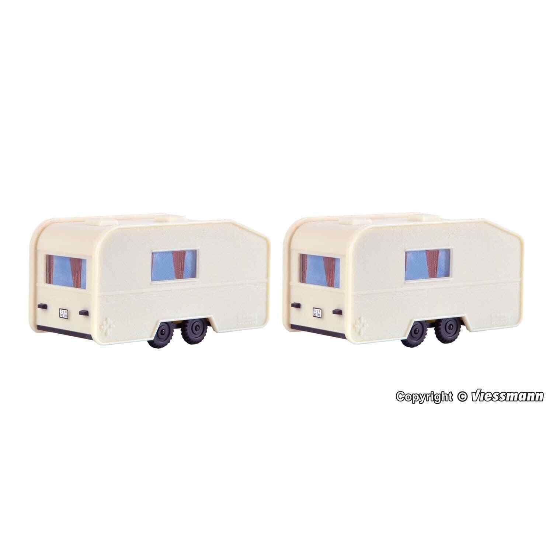 1:87 OVP 2 caravanes Vollmer 45147 neuf h0 accessoires bâtiment en kit