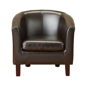 Neuf-en-cuir-synthetique-marron-simili-cuir-fauteuil-baquet-fauteuil-salle-a-manger-bureau-salon