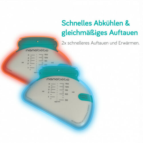 nanobebe Muttermilch-Beutel transparent 50 Stk.