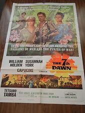 THE 7TH DAWN ORIGINAL One Sheet MOVIE POSTER 1964 SUSANNA YORK WILLIAM HOLDEN