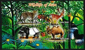 Wildlife of Asia mini sheet of 4 stamps CTO Malawi