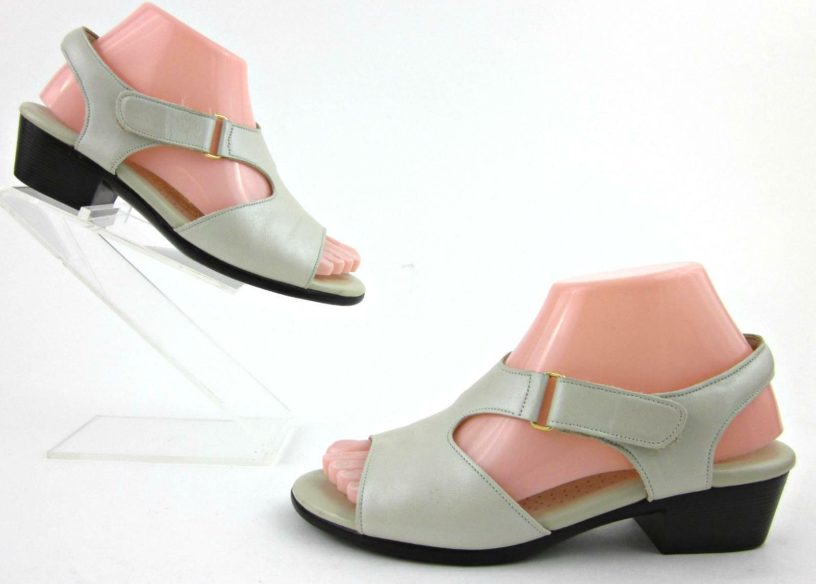 SAS Womens SUNTIMER Sandals Bone Leather 7W WIDE Made In USA