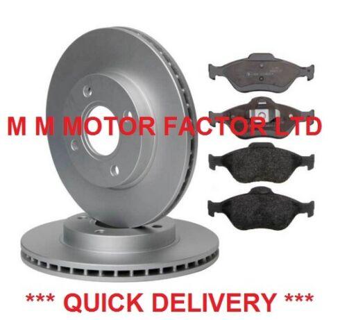 02 - Ford Fusion 1.25 1.4 1.6 16 V TDCi Avant 2 Disques de frein et Pads Set