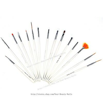 15 pcs/Set Nail Art Paint Dot Draw Pen Brush for UV Gel DIY decoration tools