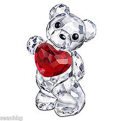 Swarovski Kris Bear A Heart For You, Love Siam Crystal Figure (MIB) - 958449