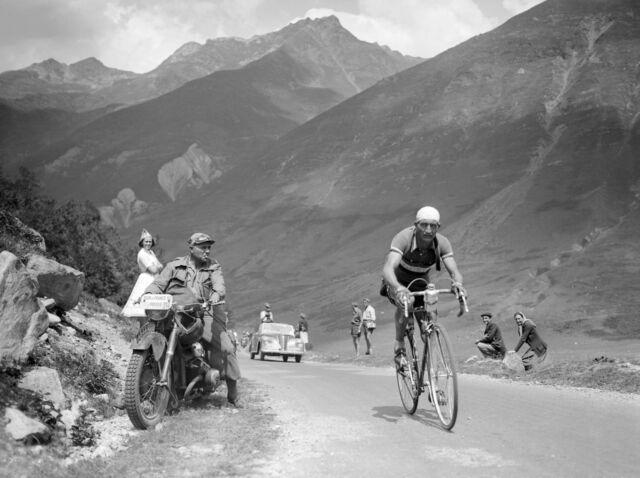 GINO BARTALI TOUR DE FRANCE 1950 RARE RETRO POSTER