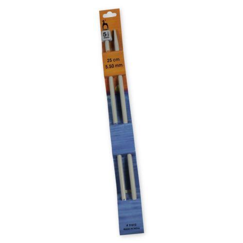 25cm long Single Point Pins Pony Knitting Needles 5.5mm