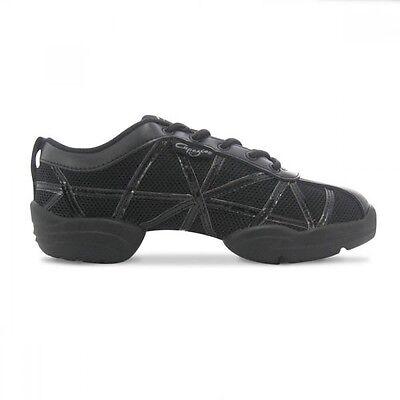 Capezio DS19 Black Web Dance Sneakers