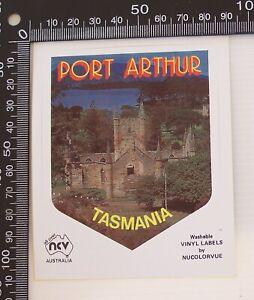 VINTAGE-PORT-ARTHUR-TASMANIA-AUSTRALIA-SOUVENIR-TOURIST-BUMPER-BIKE-STICKER
