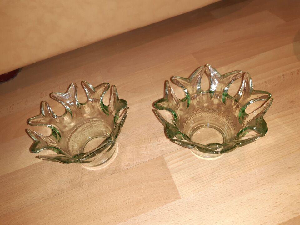 Glas, Fyrfadslysestage, Ukendt