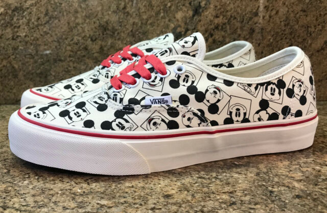 98f1b1886193 2013 Vans x Disney OG Authentic LX MICKEY SQUARE Classic White Men s Sizes  NEW!