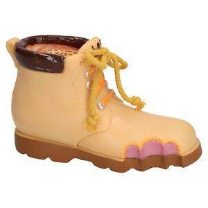 Vinyl-Lost-Soles-Work-Boot-Dog-Toy-With-Squeak-20cm-8-034