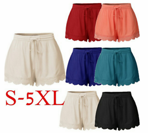 Plus-Size-Summer-Women-Casual-Beach-Shorts-Ladies-Sports-Shorts-Cotton-Hot-Pants