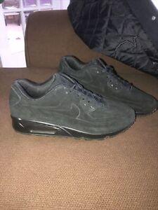 Details about Vintage Nike Air Max 90 VT Premium QS Black Nubuck 2011 RARE size 10